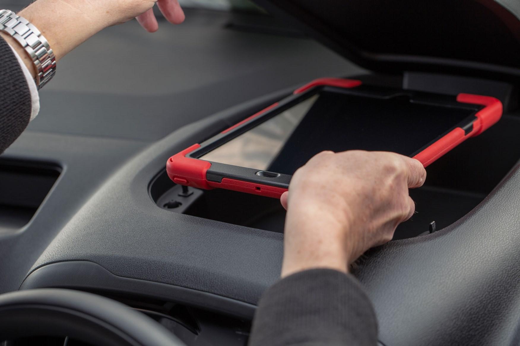 2020 Toyota Proace City review - cab interior, dash-top storage