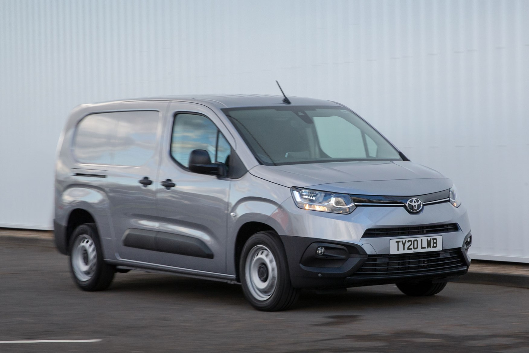 2020 Toyota Proace City review - LWB, front view, silver, driving