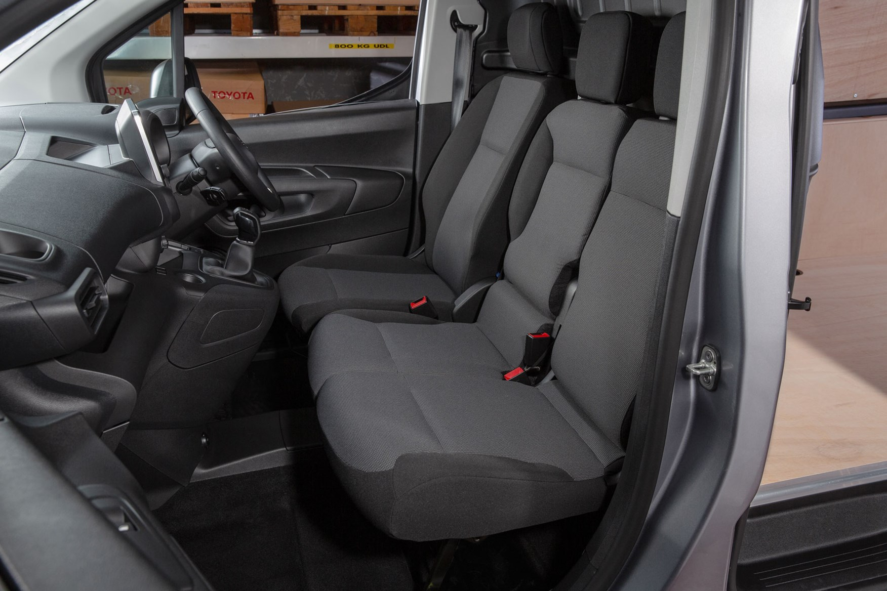 2020 Toyota Proace City review - cab interior, double passenger seat