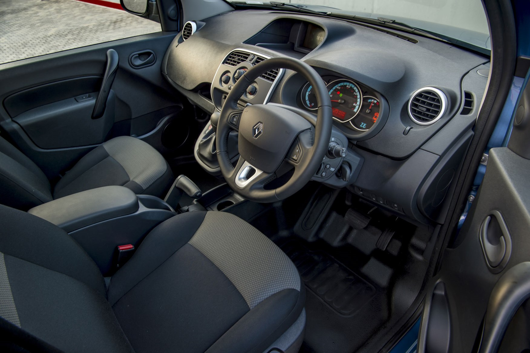 Renault Kangoo ZE review 2020 - cab interior, driver's side