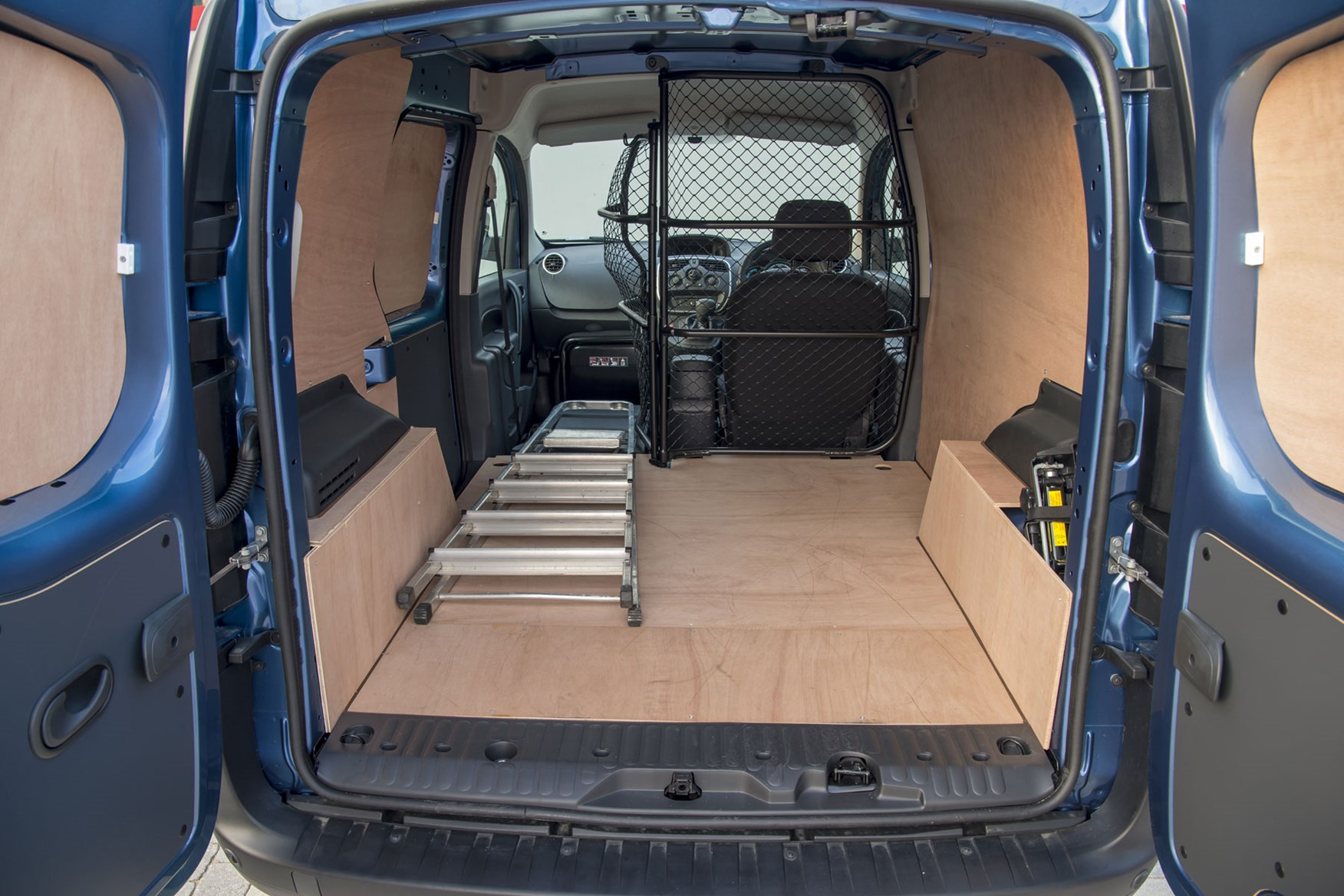 Renault Kangoo ZE review 2020 - load area with folding bulkhead
