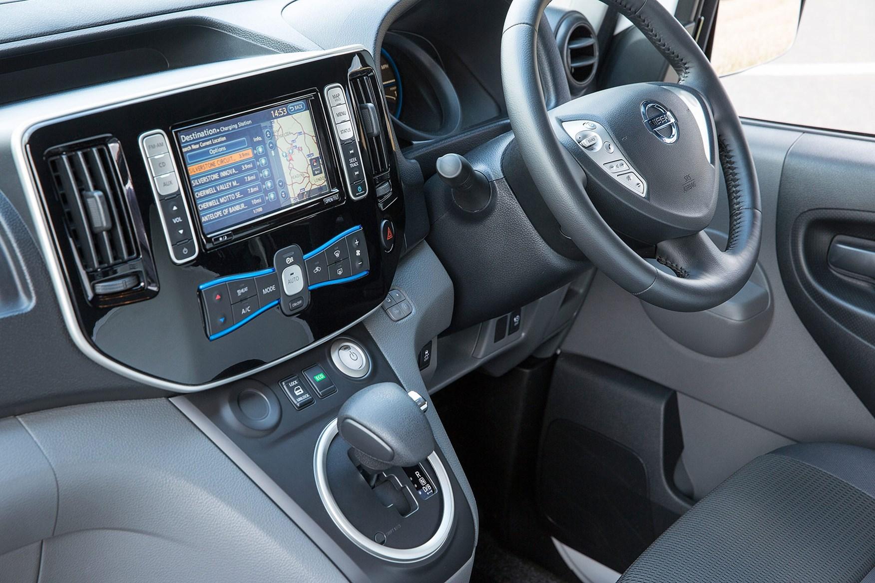 Nissan e-NV200 review, 2020, cab interior