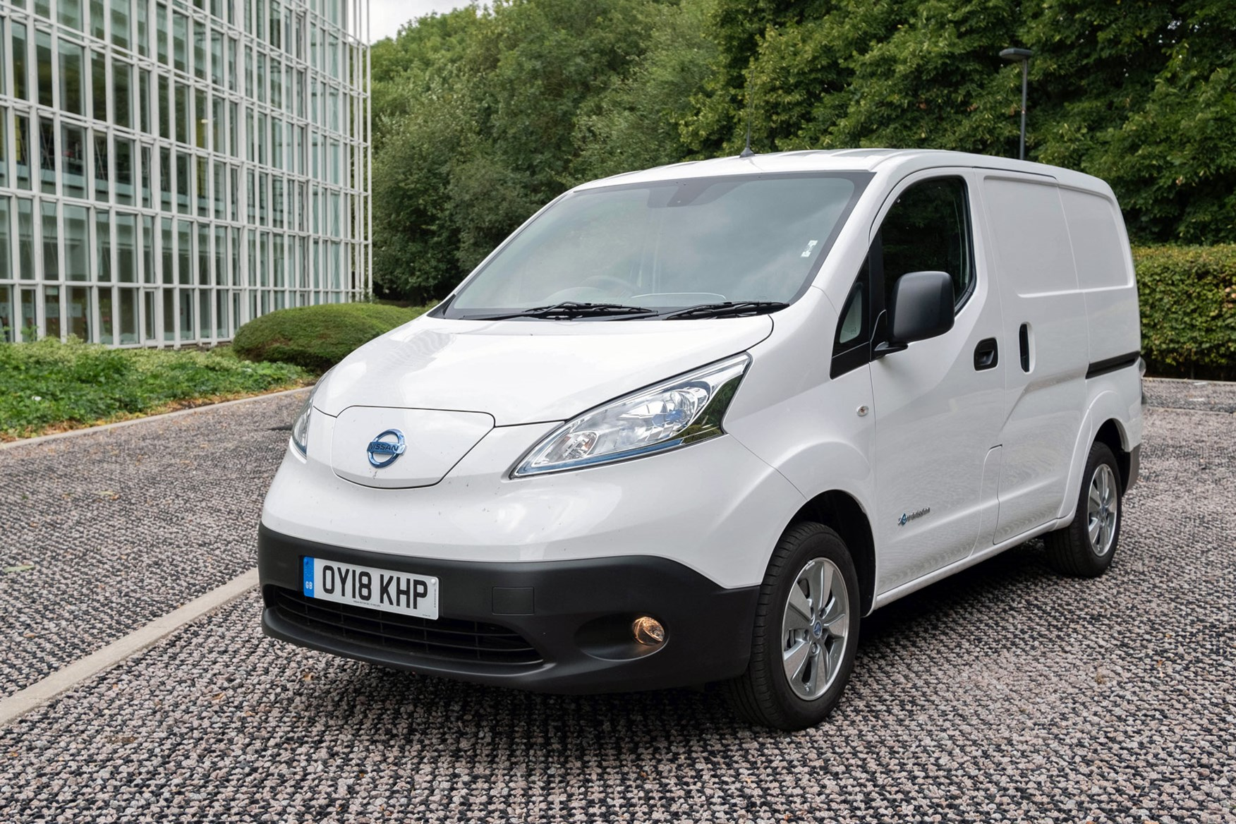 Nissan e-NV200 review, 2020, white, front view
