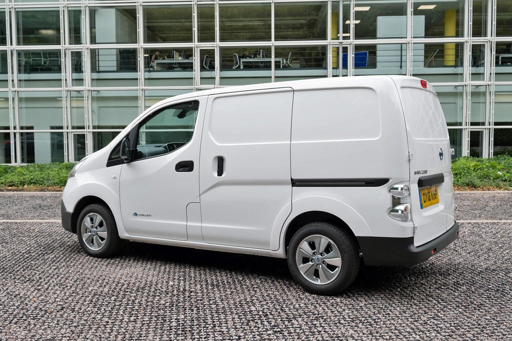 Nissan e-NV200 review, 2020, white, rear view