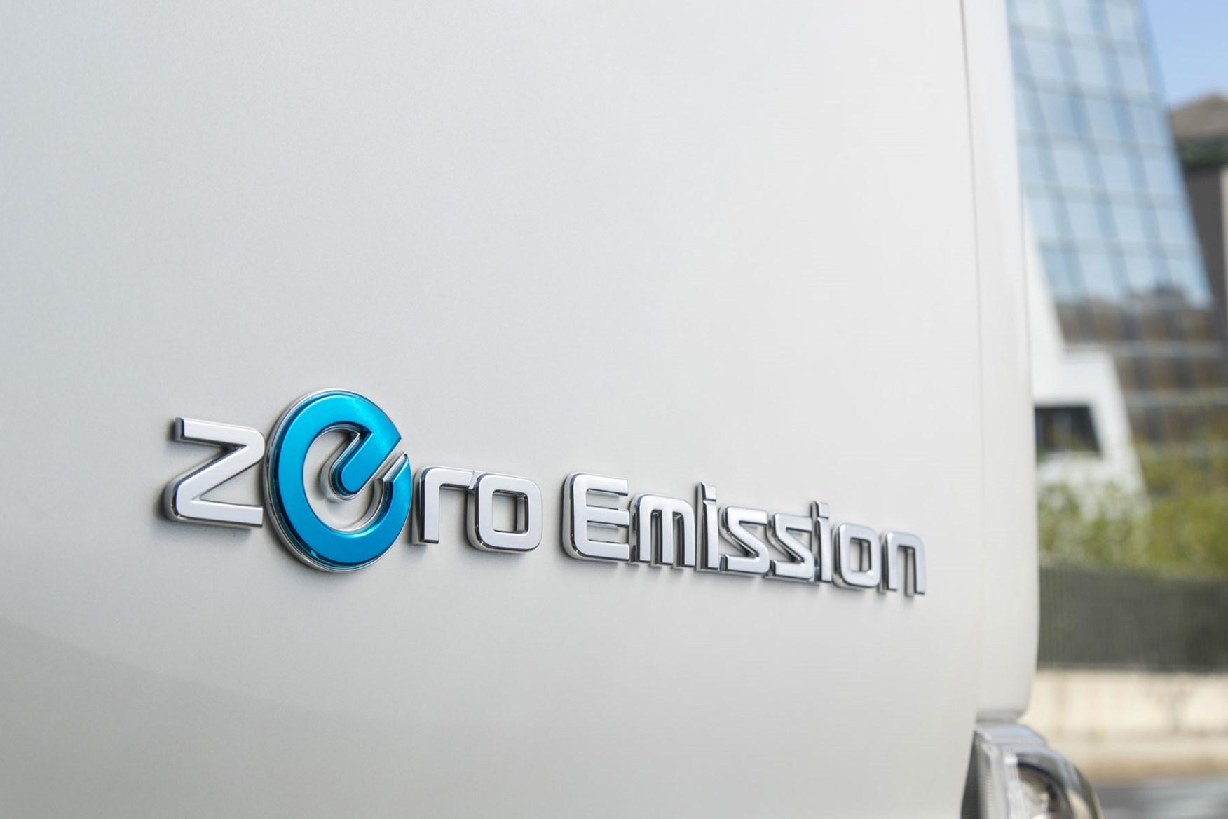 Nissan e-NV200 review, 2020, white, Zero Emissions badge