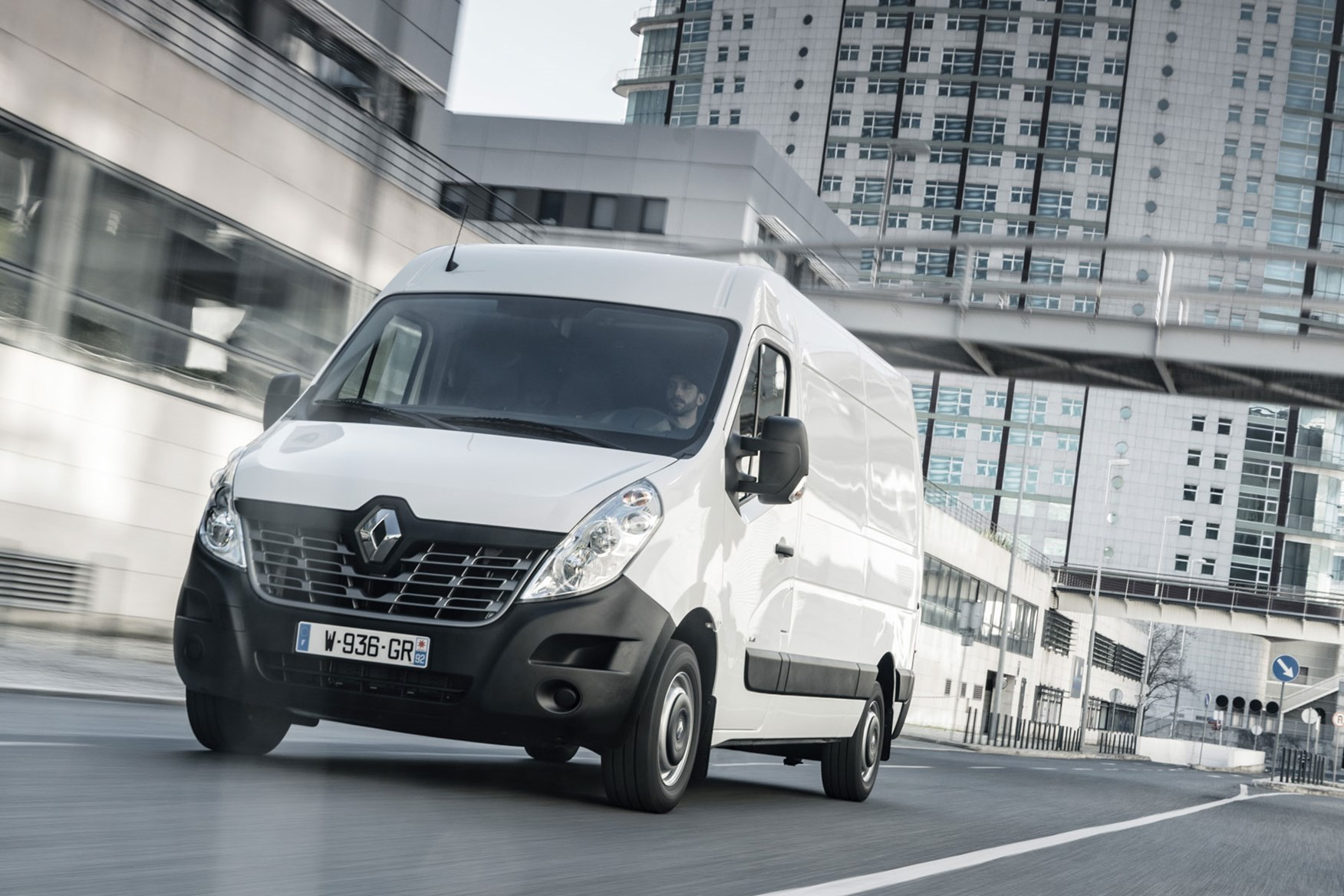 Renault Master ZE electric van review, 2020 - pre-facelift, front view, driving