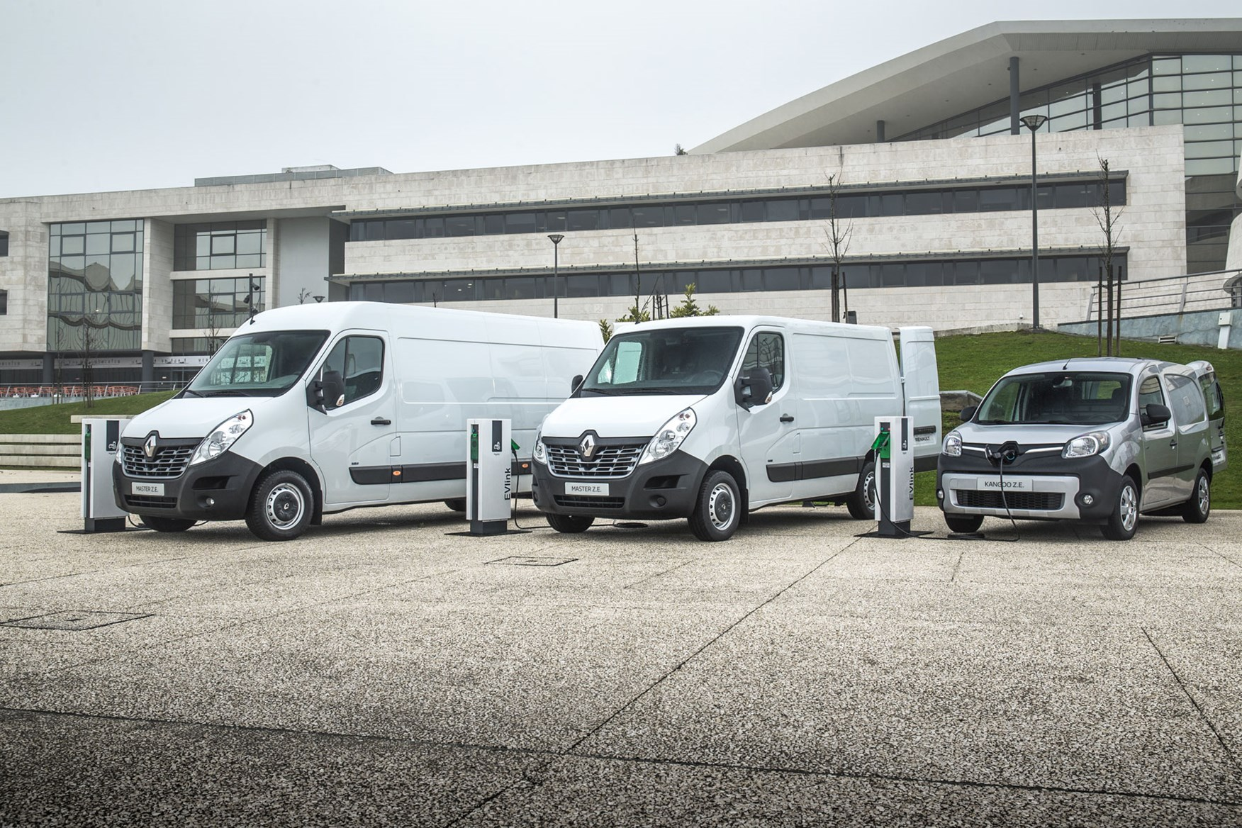 Renault Master ZE electric van review, 2020 - being charged