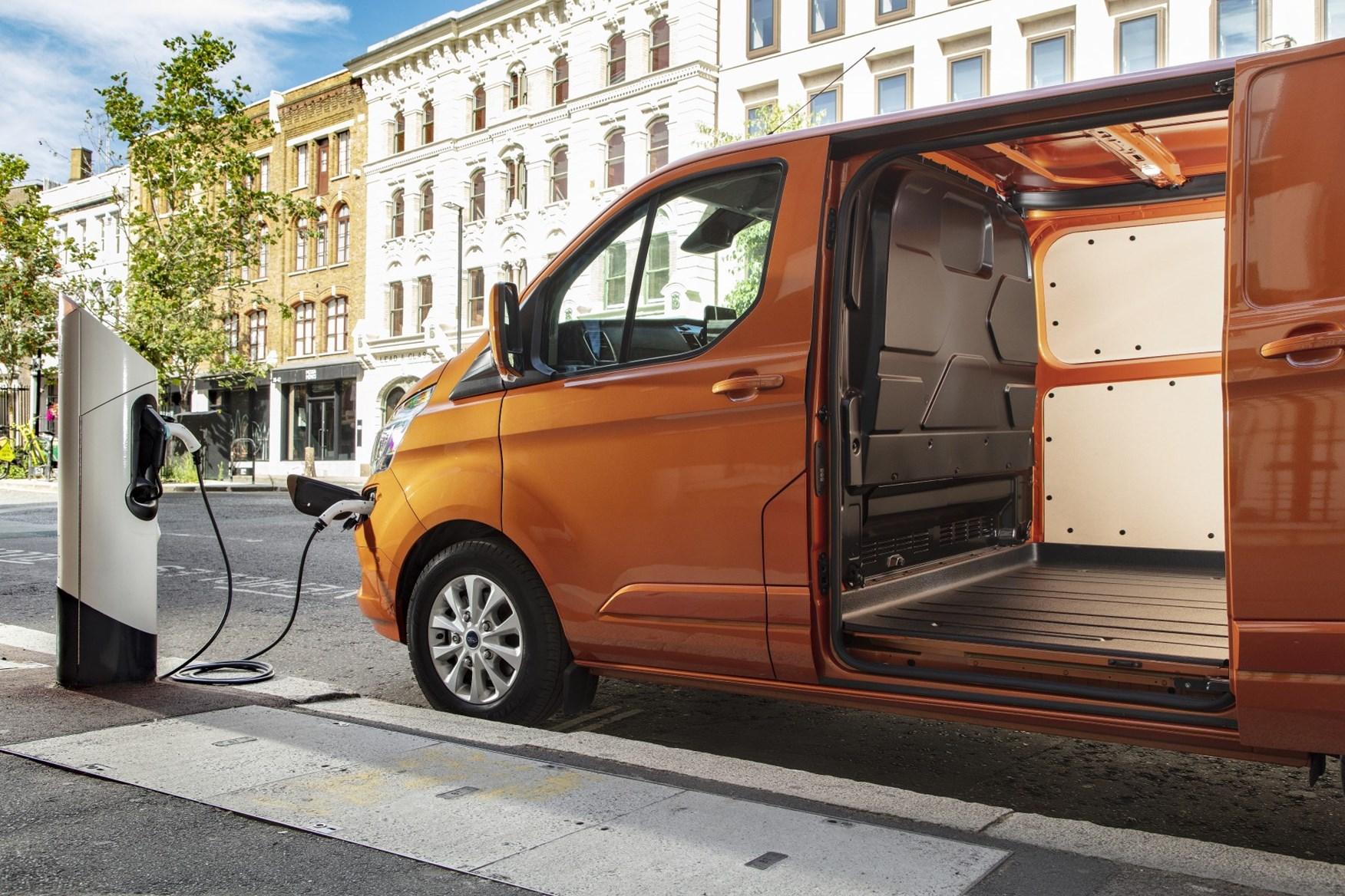 2020 Ford Transit Custom Plug-In Hybrid - plugged in, charging