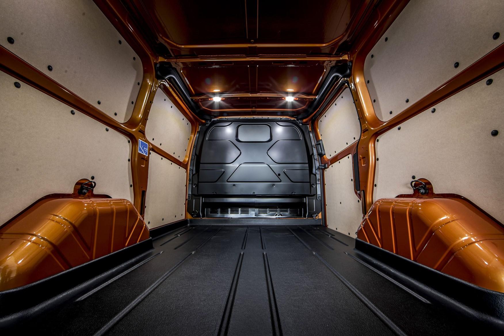 Ford Transit Custom Plug-In Hybrid, 2020, payload, load area, orange