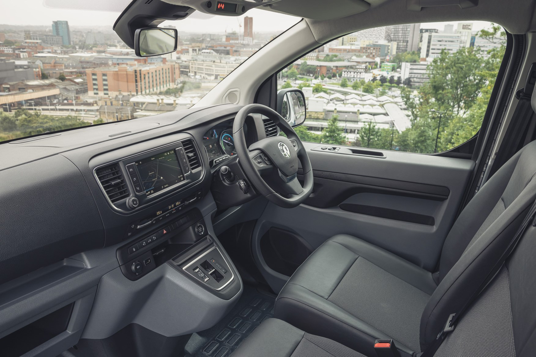 Vauxhall Vivaro-e review, 2020, electric van, cab interior