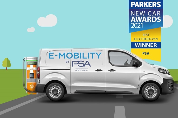 2021 Parkers electrified van of the year award winner
