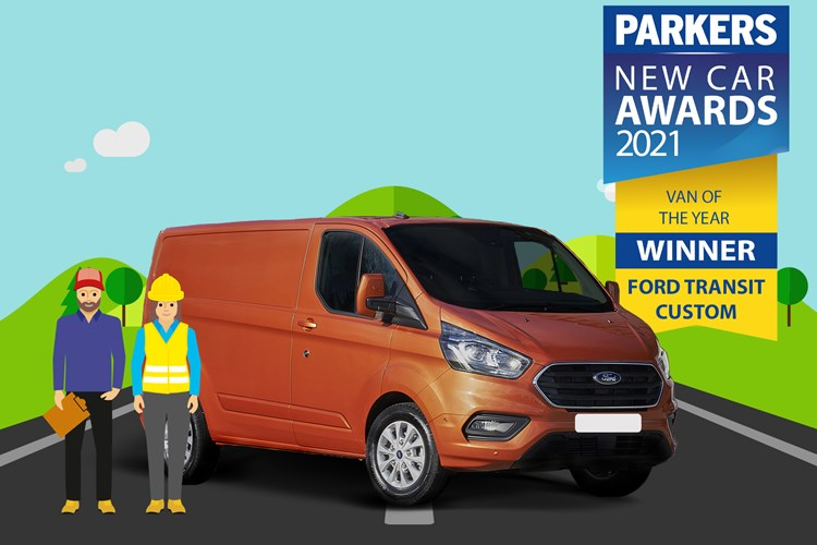 2021 Parkers van of the year winner - Ford Transit Custom