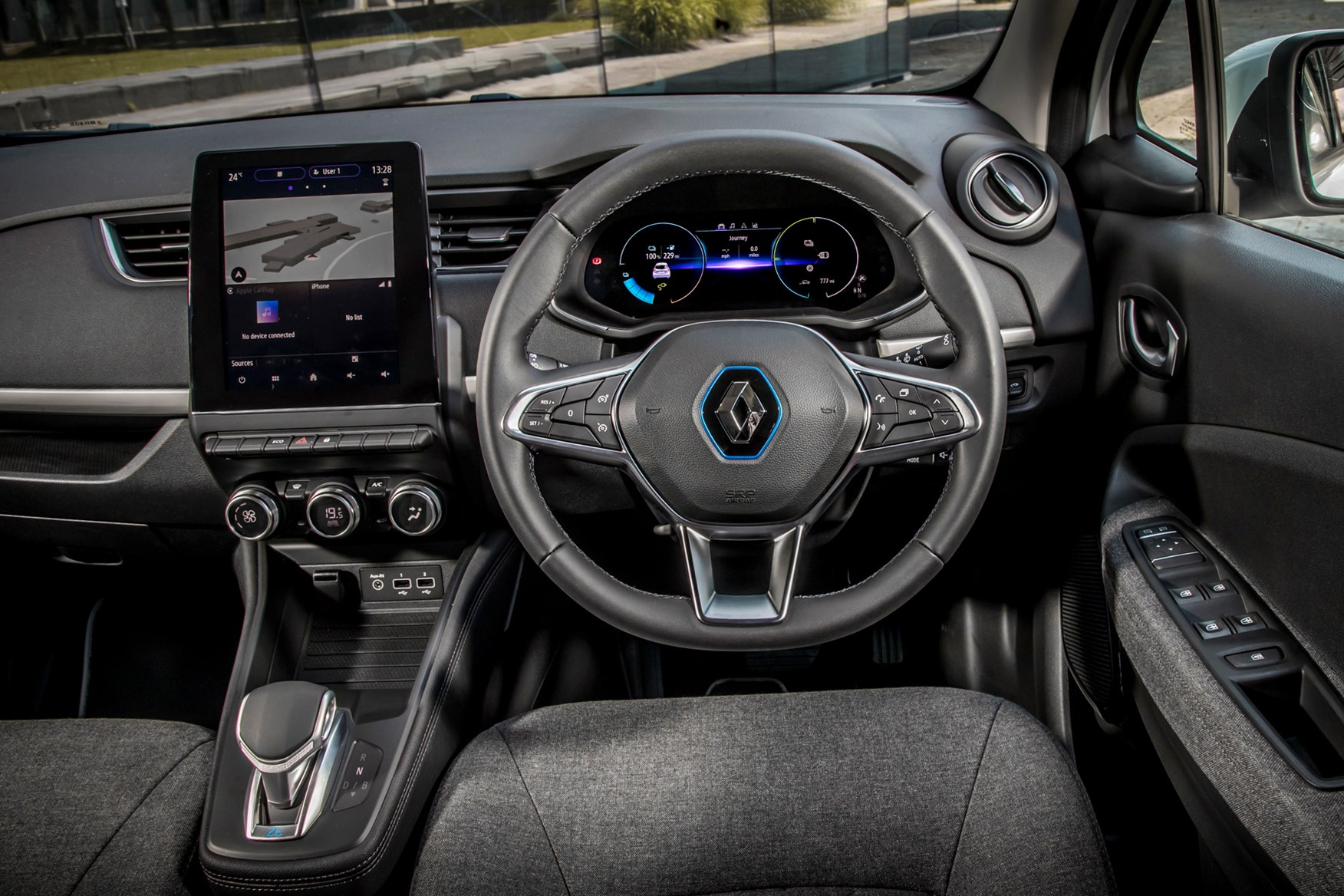 Renault Zoe Van review, 2020, interior, driving position, dashboard, steering wheel