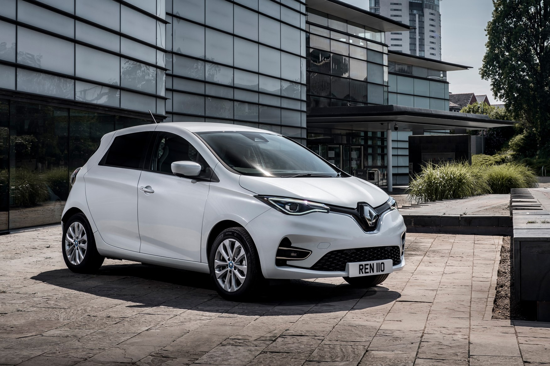 Renault Zoe Van review, 2020, front view, white