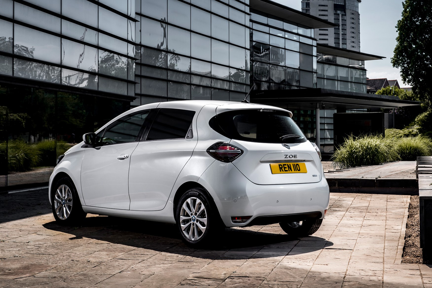 Renault Zoe Van review, 2020, rear view, white
