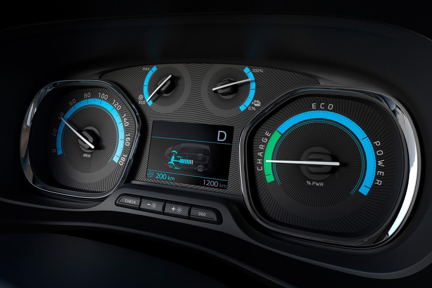 2021 Peugeot e-Expert dials