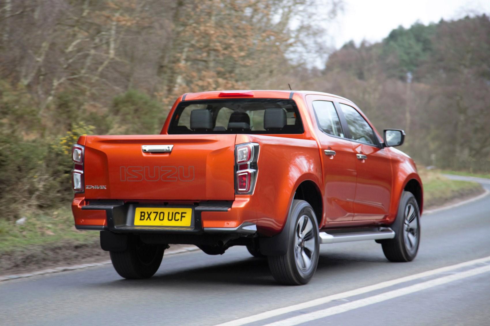 Isuzu D-Max review, 2021, DL40, rear view, driving, orange