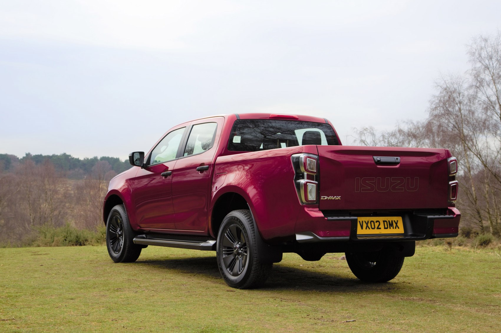 Isuzu D-Max review, 2021, V-Cross, rear view, red