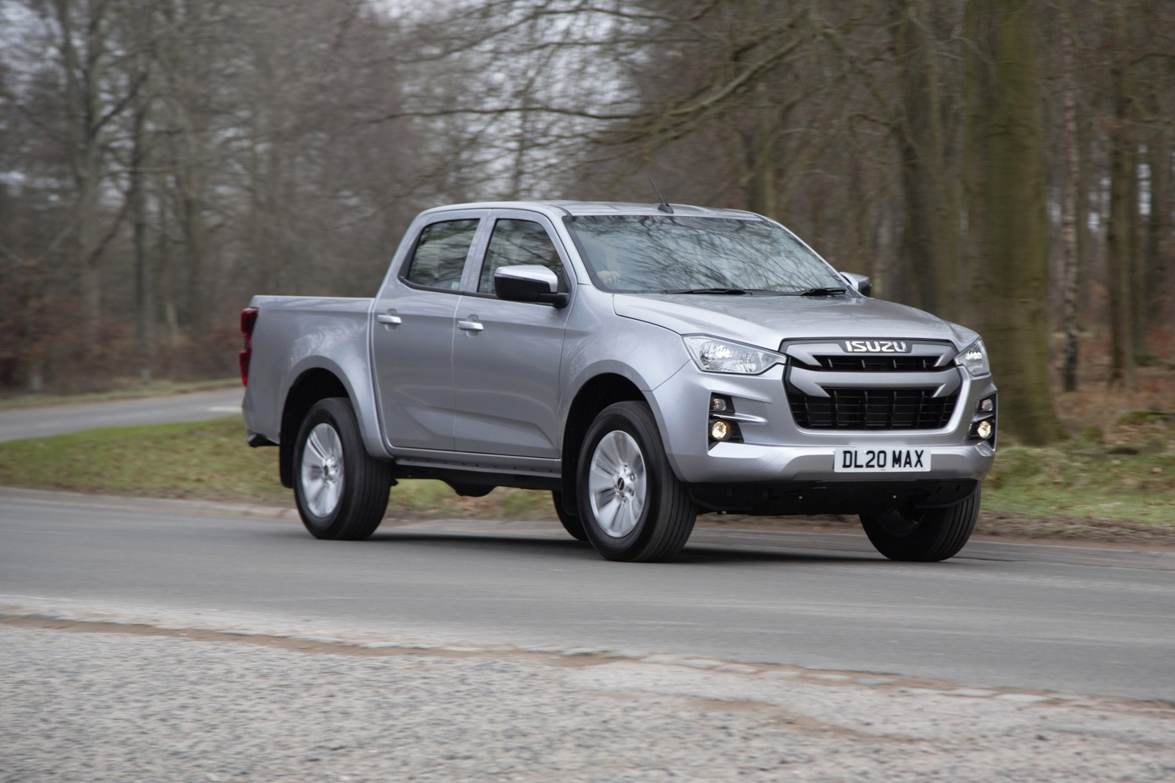 Isuzu D-Max review, 2021, DL20, front view, driving, silver