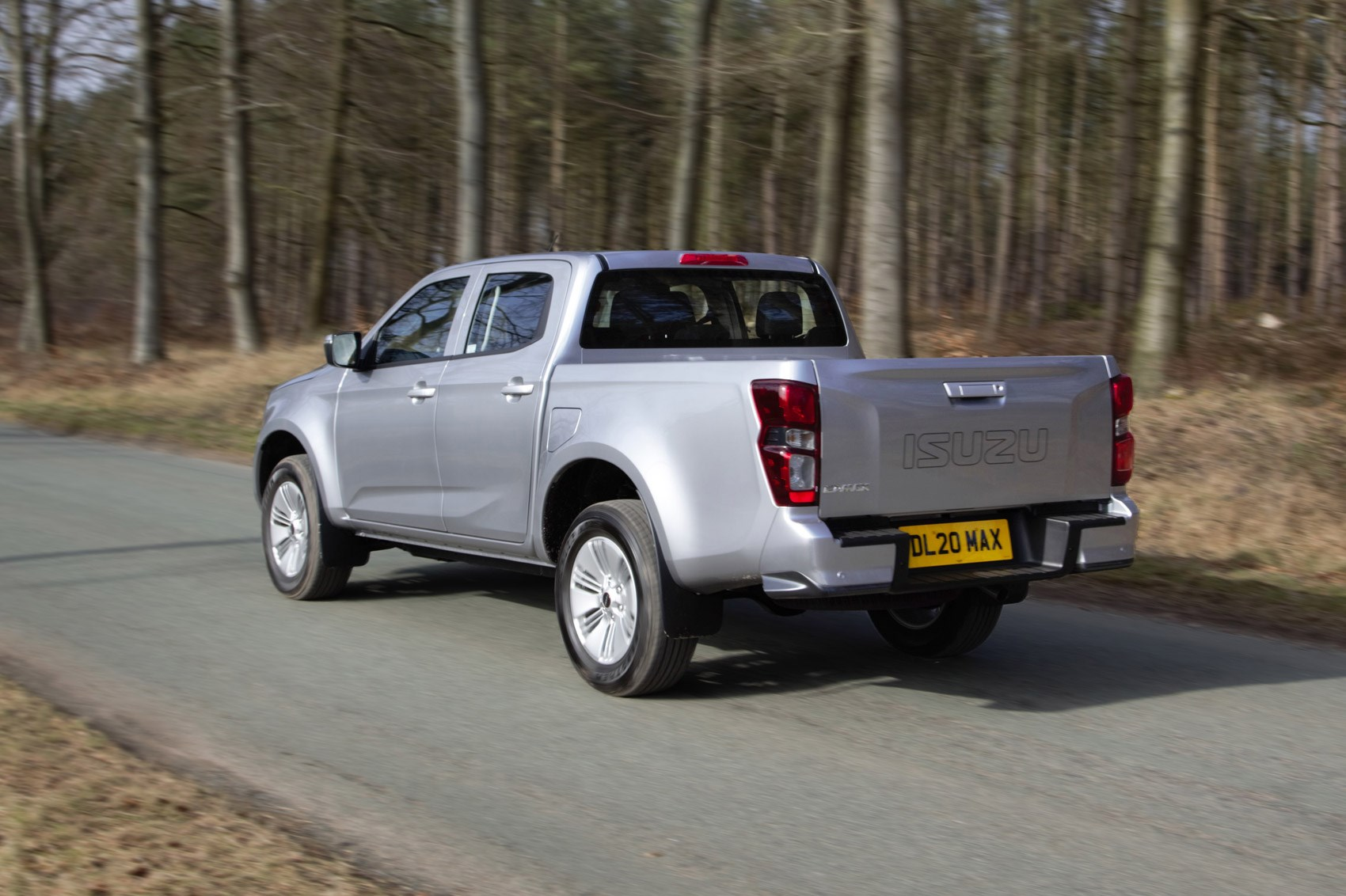 Isuzu D-Max review, 2021, DL20, rear view, driving, silver