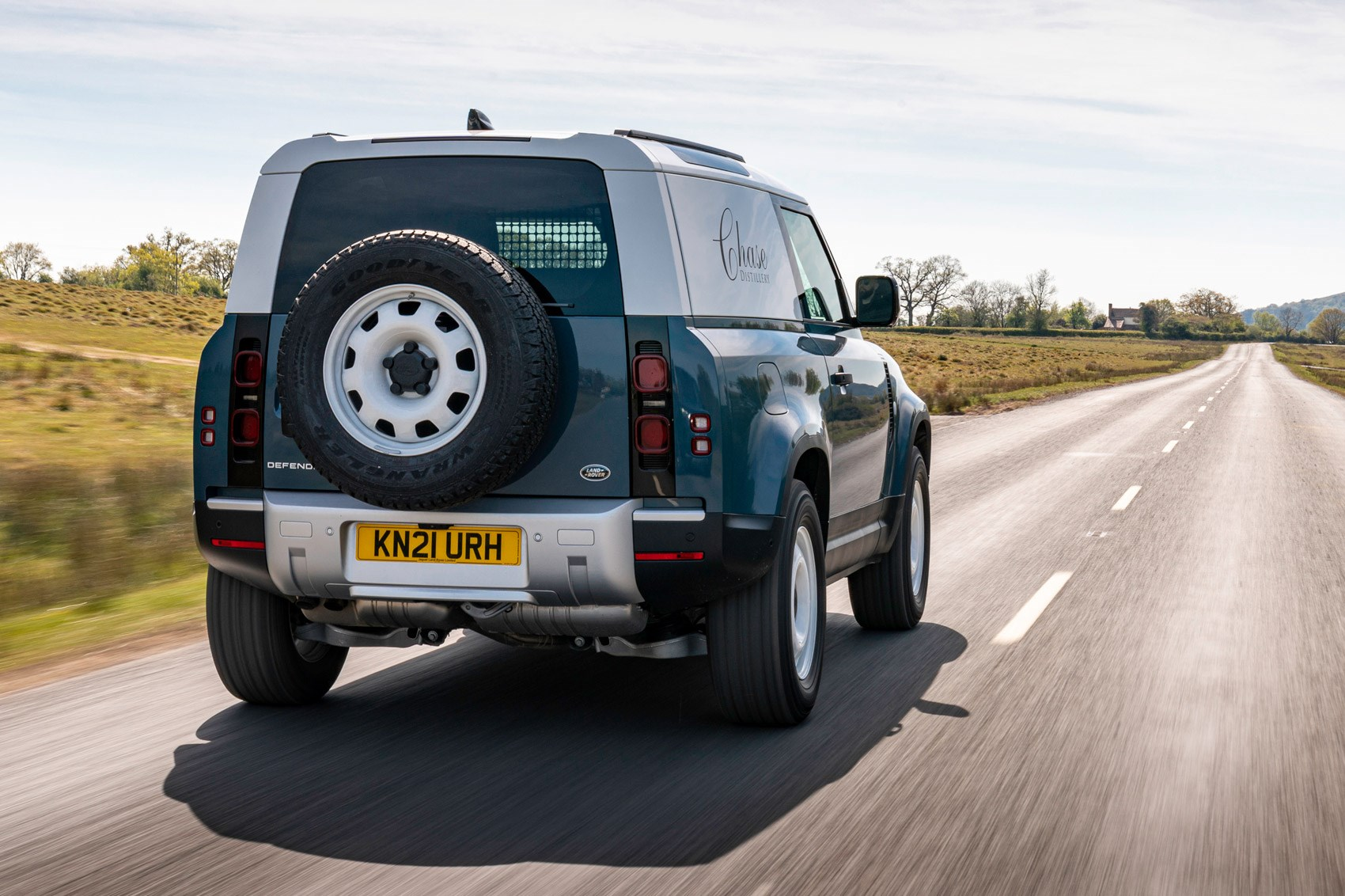 Land Rover Defender Hard Top review - commercial 4x4 - 90, rear view, driving