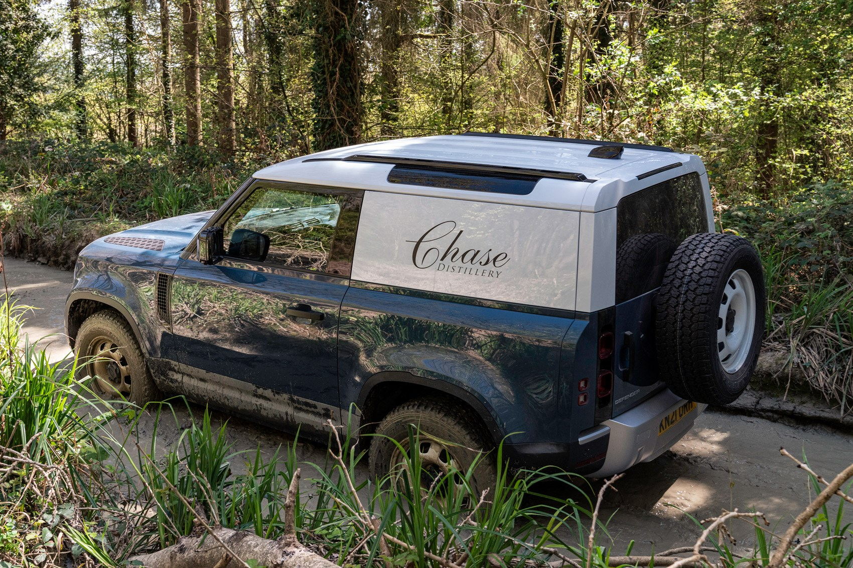 Land Rover Defender Hard Top review - commercial 4x4 - 90, high rear view, off-road