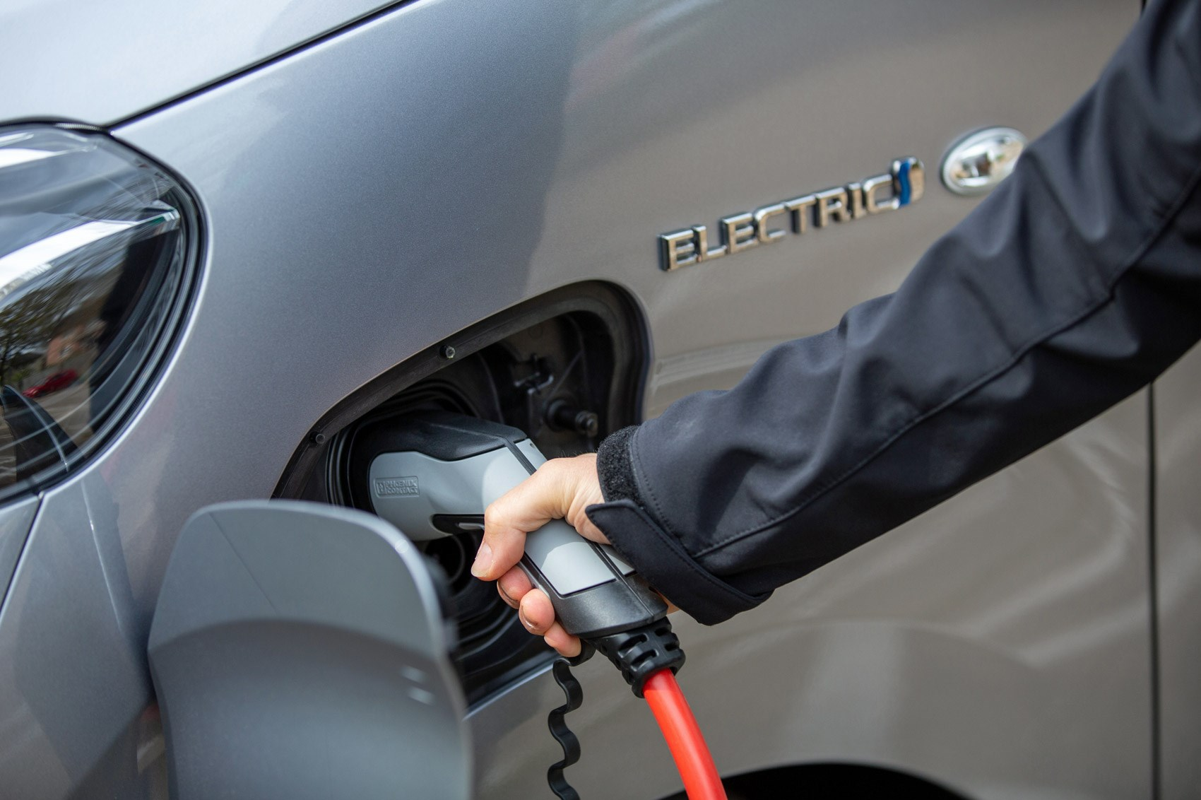 Toyota Proace Electric van review, plugging in to charge