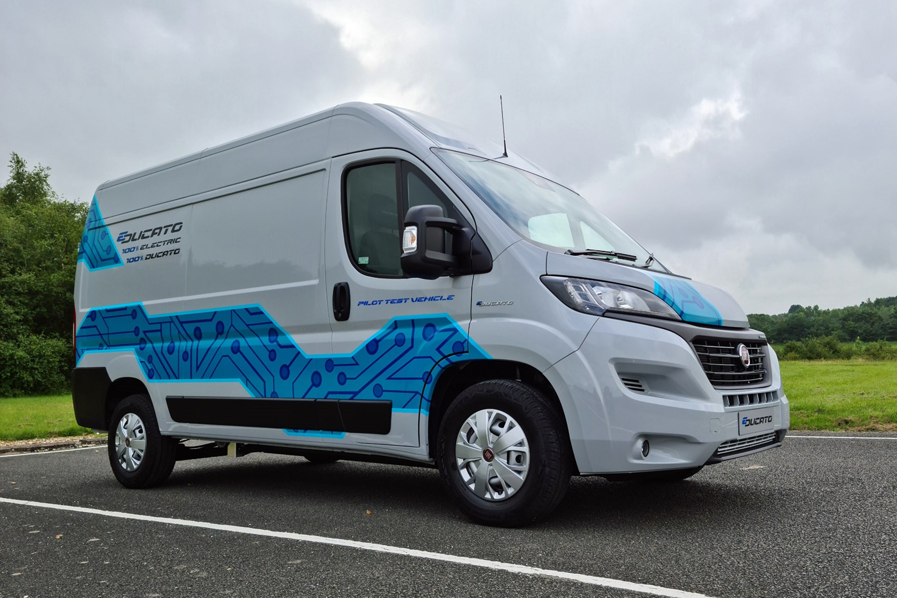 Fiat E-Ducato review - front view, right-hand drive, UK